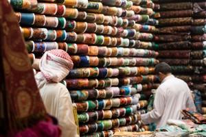 Textilhändler in Saudi Arabien